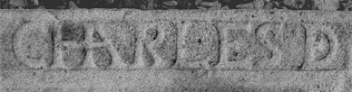 Basque lettering engraved (South of France)