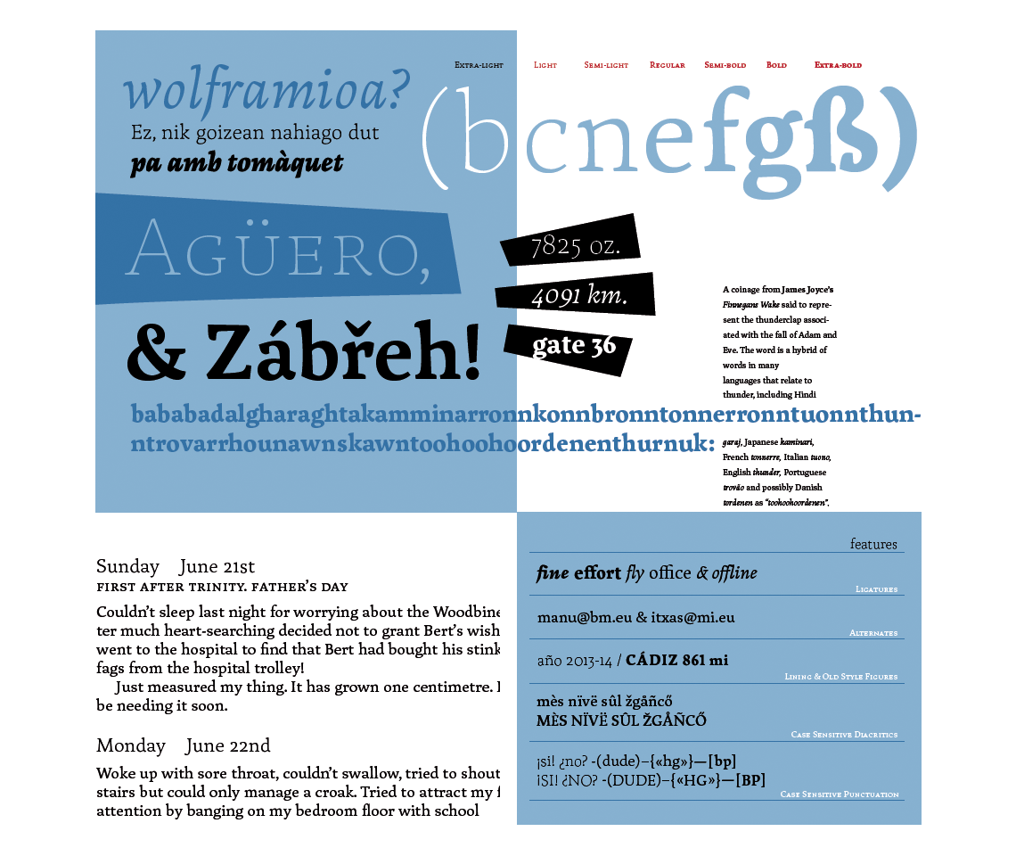 Amaikha typeface features