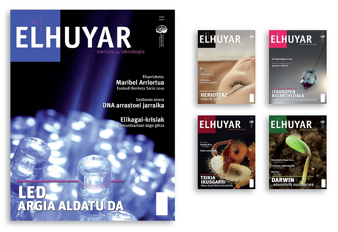 Elhuyar magazine. Covers.