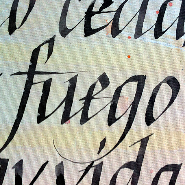 Calligraphy painting. Detail.