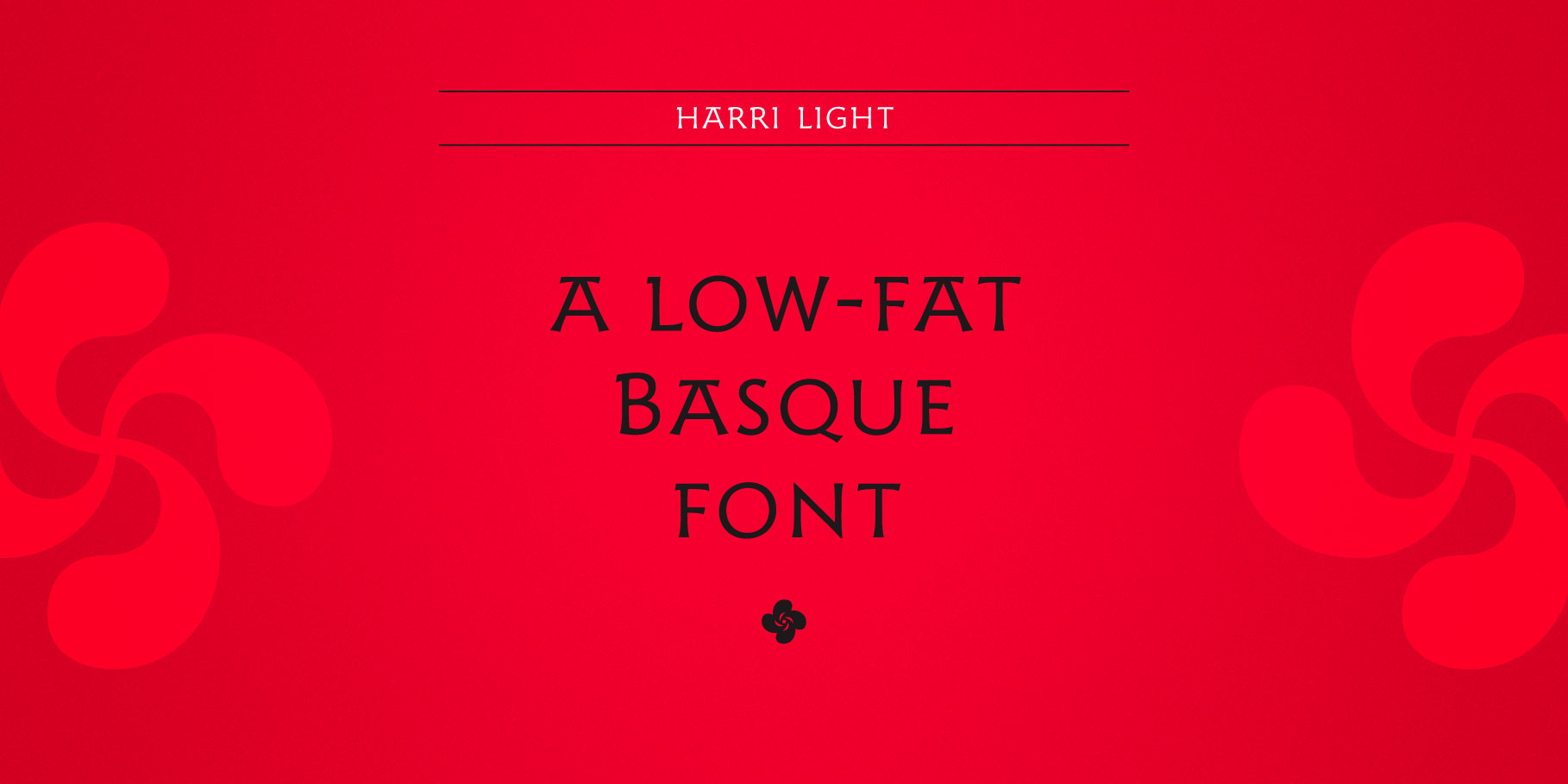 Example of Harri typeface in use
