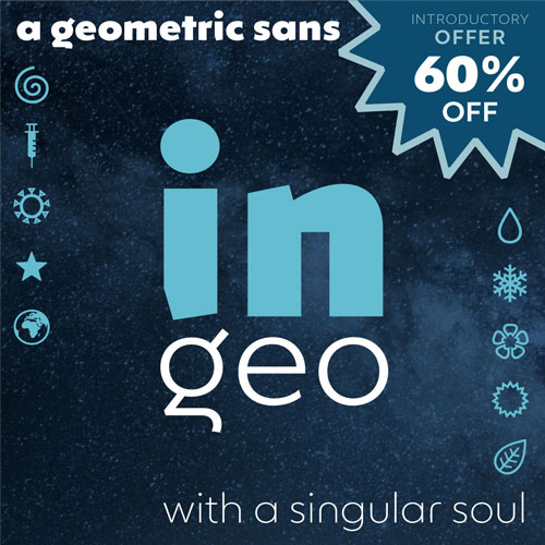 Ingeo geometric typeface offer poster small